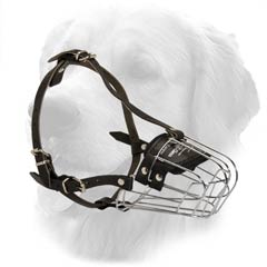 Wire Basket Metal Cage Muzzle with Nappa Padding