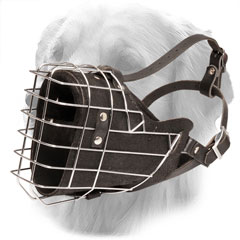 Handmade Leather Muzzle with Soft Nappa Padding