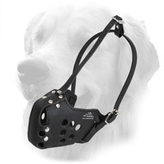 Leather Golden Retriever Muzzle for Military Service