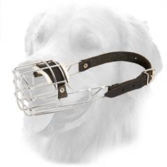 Metal Cage Comfortable Muzzle with only one strap