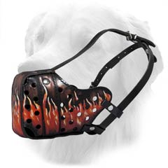 Leather Muzzle For Golden Retriever