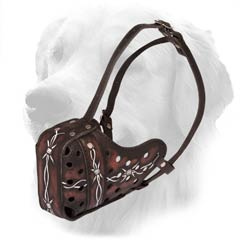 Painted Leather Muzzle