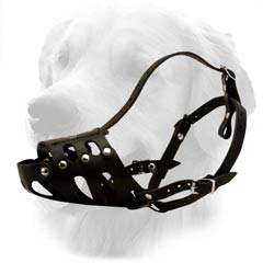Black Durable Golden Retriever Muzzle