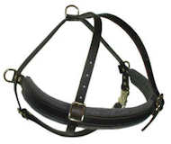 Tracking/PullingLeather Dog Harness For Golden Retriever